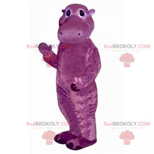 Pequeno mascote hipopótamo roxo - Redbrokoly.com