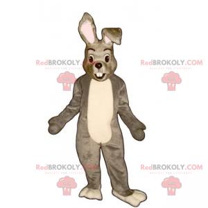 Mascotte piccolo coniglio grigio e bianco - Redbrokoly.com