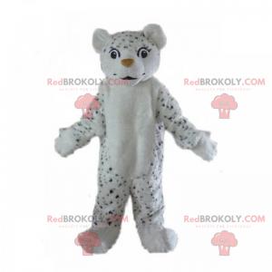 Kleines schwarz-weißes Leopardenmaskottchen - Redbrokoly.com