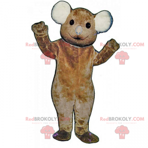 Mascot little brown bear with white ears - Redbrokoly.com