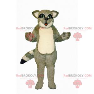 Maskot liten grå vaskebjørn - Redbrokoly.com
