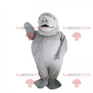 Kleine grijze zeeleeuw mascotte - Redbrokoly.com