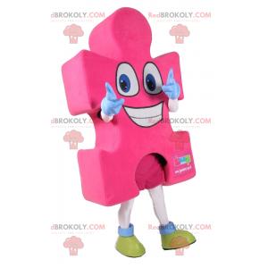 Pink puzzle piece mascot - Redbrokoly.com
