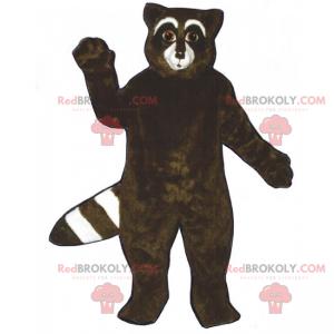 Svart vaskebjørn maskot - Redbrokoly.com