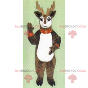 Christmas Reindeer Mascot - Redbrokoly.com