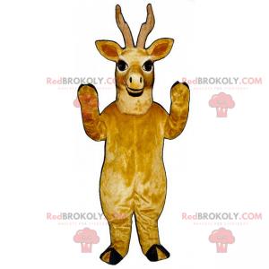 Brown and smiling reindeer mascot - Redbrokoly.com