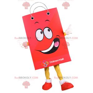 Shopping bag mascot smiling - Redbrokoly.com
