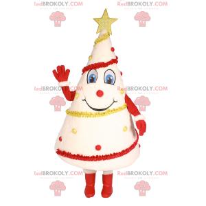 Bílý vánoční strom maskot - Redbrokoly.com
