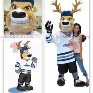 Karibu-Maskottchen des Hockeyspielers - Redbrokoly.com