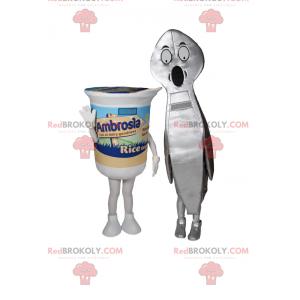 Mascottes de yaourt avec cuillère - Redbrokoly.com
