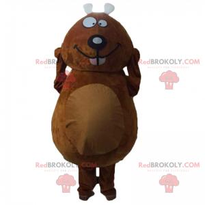Mascotte de rongeur souriant - Redbrokoly.com