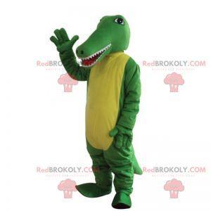 Mascote animal - crocodilo bicolor - Redbrokoly.com