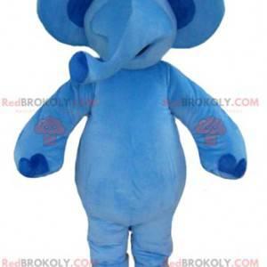Sehr schönes großes blaues Elefantenmaskottchen - Redbrokoly.com