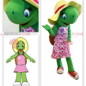 Maskotka ładny zielony żółw - Redbrokoly.com