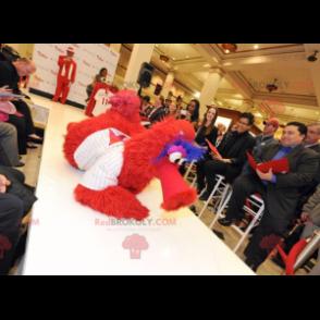 Mascot big red blue and white bird - Redbrokoly.com