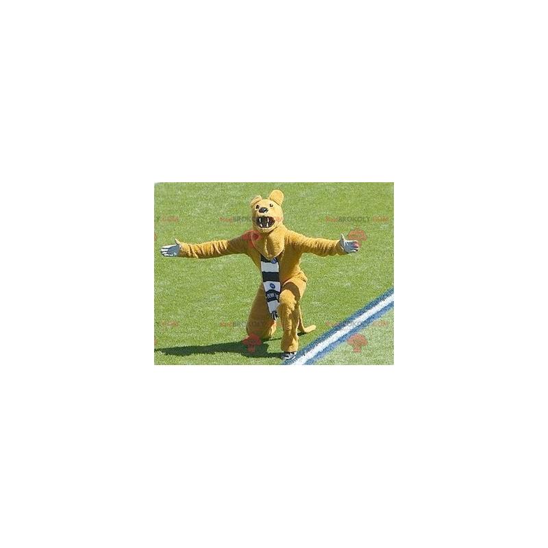 Brølende gul bjørnemaskot - Redbrokoly.com