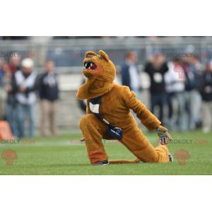 Roaring yellow bear mascot - Redbrokoly.com