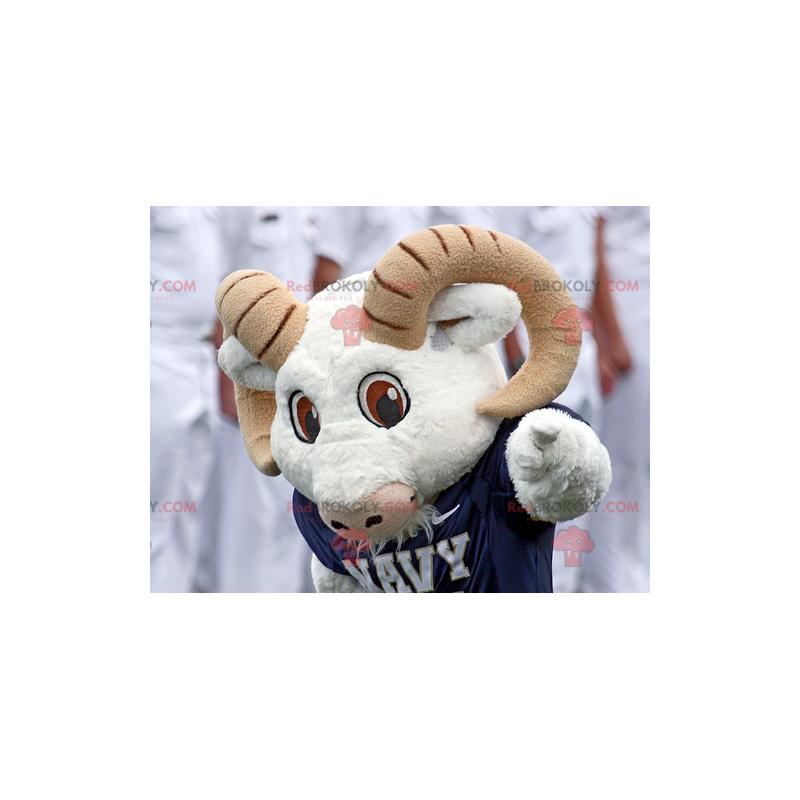 White and brown goat ram mascot - Redbrokoly.com