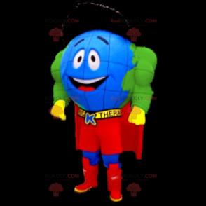 Superheld Weltkarte Maskottchen - Redbrokoly.com