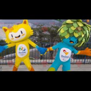 2 maskoti olympijských her 2016 v Riu - Redbrokoly.com