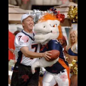White and orange horse mascot - Redbrokoly.com