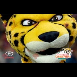 Černá a bílá žlutá tygří gepard maskot - Redbrokoly.com
