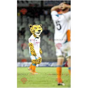Black and white yellow tiger cheetah mascot - Redbrokoly.com