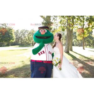 Muppet show zelený sněhulák maskot - Redbrokoly.com