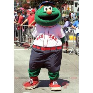 Muppet show green snowman mascot - Redbrokoly.com