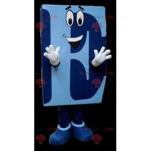 Modré maskot velké písmeno E. - Redbrokoly.com