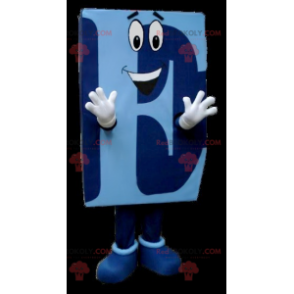 Blaues Großbuchstaben E Maskottchen - Redbrokoly.com