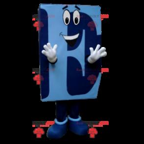 Blue capital letter E mascot - Redbrokoly.com