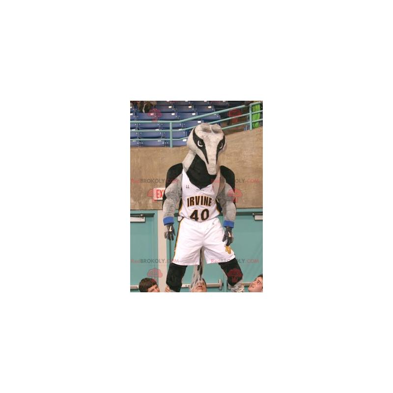 Maskot tapír šedý a černý mravenečník - Redbrokoly.com