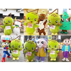Giant green mango mascot - Redbrokoly.com