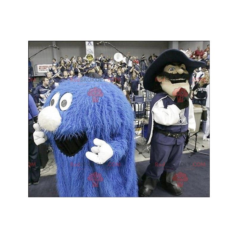 Alles haarige blaue Monster Maskottchen - Redbrokoly.com