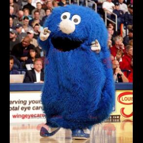 All hairy blue monster mascot - Redbrokoly.com