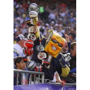 Maskot ve tvaru blesku ve sportovním oblečení - Redbrokoly.com