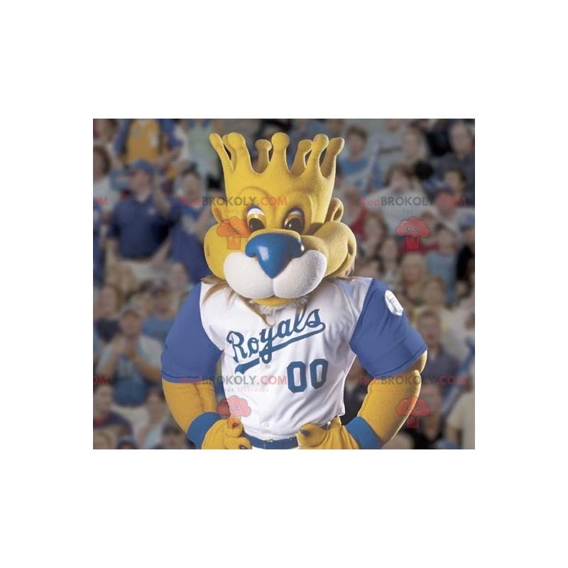 Maskot lva s hlavou ve tvaru koruny - Redbrokoly.com