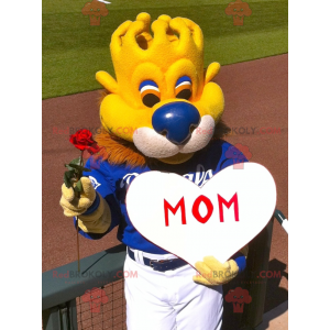 Lion mascot with head in the shape of a crown - Redbrokoly.com