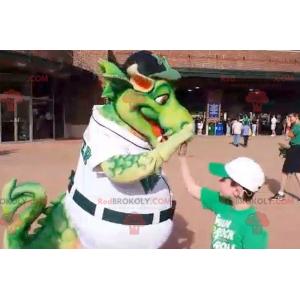 Big green dragon mascot - Redbrokoly.com