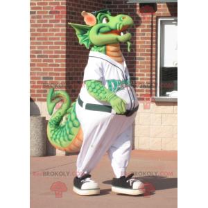Velký zelený drak maskot - Redbrokoly.com