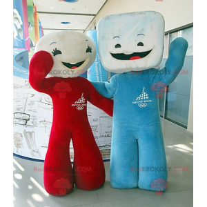 2 marshmallow mascots of sugar cubes - Redbrokoly.com