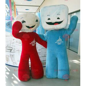 2 maskoti marshmallow kostek cukru - Redbrokoly.com