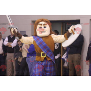 Svalnatý muž gladiátor viking maskot - Redbrokoly.com