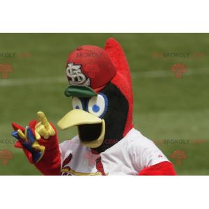 Blue yellow and red bird mascot - Redbrokoly.com