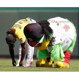 Kostým maskot velký zelený pták - Redbrokoly.com