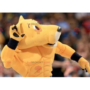 Orange feline tiger mascot in sportswear - Redbrokoly.com