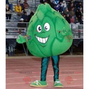 Giant artichoke green cabbage mascot - Redbrokoly.com