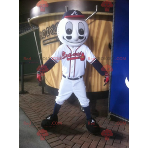 Baseball ball mascot in sportswear - Redbrokoly.com