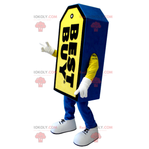 Blue and yellow Best Buy giant label mascot - Redbrokoly.com